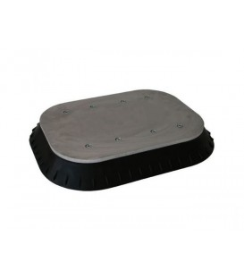 K01500 SUCTION PAD STEEL INDUSTRY 380 x 500 MM BLACK NBR