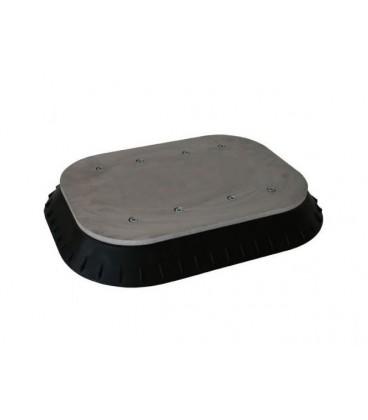 K01500 SUCTION PAD STEEL INDUSTRY 380 x 500 MM BLACK NBR