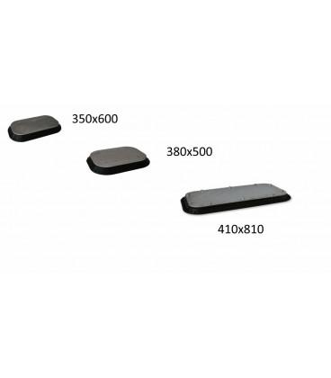 K01810 SUCTION PAD STEEL INDUSTRY 410 x 810 MM BLACK NBR